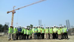 ตรวจพื้นที่โครงการก่อสร้างอาคารที่ทำการฯ PM2.5